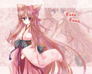 Rating: Safe Score: 19 Tags: animal_ears kimono mito_mashiro paopao tayutama User: fairyren