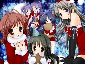 Rating: Safe Score: 12 Tags: christmas clannad fujibayashi_kyou fujibayashi_ryou furukawa_nagisa ibuki_fuuko ichinose_kotomi nekomiya_nao sakagami_tomoyo thighhighs User: vistigris