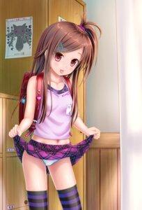 Rating: Questionable Score: 120 Tags: gotou_hisashi kyubey loli pantsu puella_magi_madoka_magica skirt_lift thighhighs User: gnarf1975