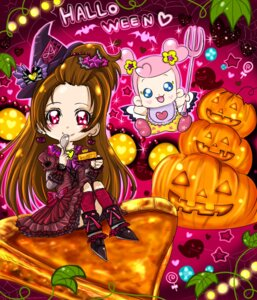 Rating: Questionable Score: 7 Tags: ai-chan_(precure) chibi dokidoki!_precure halloween madoka_aguri pretty_cure User: mioxnorman