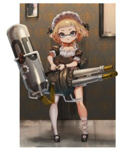 Rating: Safe Score: 19 Tags: gun inkling_(splatoon) maid pointy_ears splatoon thighhighs yu-ri User: Mr_GT
