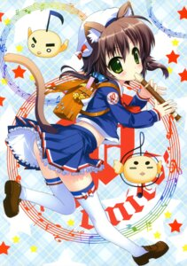Rating: Safe Score: 36 Tags: animal_ears fujima_takuya nekomimi tail thighhighs User: crim