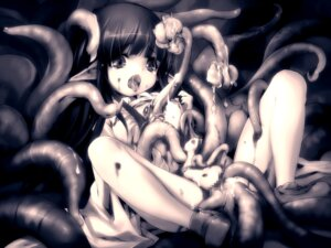 Rating: Explicit Score: 13 Tags: censored extreme_content guro hitomaru loli monochrome pussy shrine tentacles User: fireattack