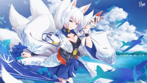 Rating: Safe Score: 44 Tags: animal_ears azur_lane cleavage japanese_clothes kaga_(azur_lane) kitsune masabodo tail User: Mr_GT