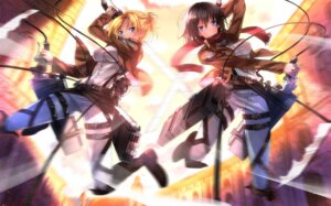 Rating: Safe Score: 53 Tags: annie_leonhardt mikasa_ackerman shingeki_no_kyojin sword swordsouls User: SubaruSumeragi