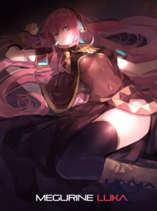 Rating: Questionable Score: 62 Tags: headphones jandy megurine_luka thighhighs vocaloid User: charunetra