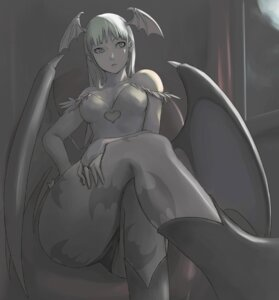 Rating: Safe Score: 42 Tags: ass cleavage dark_stalkers leotard monochrome morrigan_aensland pantyhose tea_(artist) wings User: Nazzrie