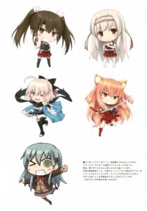 Rating: Safe Score: 23 Tags: animal_ears chibi crossover fate/grand_order japanese_clothes kantai_collection sakura_saber seifuku shoukaku_(kancolle) suien suzuka_gozen_(fate/grand_order) suzuya_(kancolle) sword tail thighhighs zuikaku_(kancolle) User: Twinsenzw