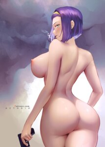 Rating: Questionable Score: 34 Tags: ass azto_dio cowboy_bebop faye_valentine gun naked nipples smoking User: Genex