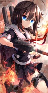 Rating: Safe Score: 70 Tags: blood kantai_collection nikkunemu seifuku shigure_(kancolle) torn_clothes wet User: Mr_GT