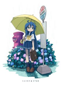 Rating: Safe Score: 10 Tags: izumi_konata lucky_star seifuku tagme umbrella wet User: saemonnokami