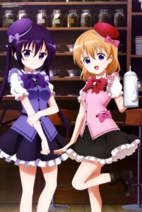 Rating: Safe Score: 50 Tags: gochuumon_wa_usagi_desu_ka? hoto_cocoa ogawa_akane tedeza_rize waitress User: drop