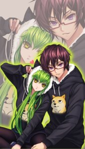 Rating: Safe Score: 24 Tags: ana_bi animal_ears c.c. code_geass lelouch_lamperouge megane nekomimi pantyhose User: charunetra