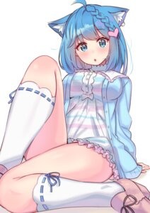 Rating: Questionable Score: 46 Tags: animal_ears animare dress heels nekomimi souya_ichika sweater tonari_no_kai_keruberosu User: yanis
