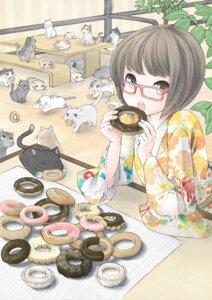 Rating: Safe Score: 22 Tags: kimono megane neko nekonaka User: DragonSushi