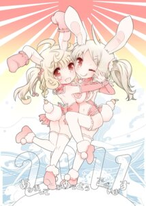 Rating: Questionable Score: 9 Tags: animal_ears bunny_ears okome_(ricecandy) thighhighs User: blooregardo