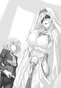 Rating: Safe Score: 19 Tags: breast_hold dress goblin_slayer monochrome nopan sword_maiden tagme User: kiyoe