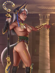 Rating: Questionable Score: 12 Tags: ass horiishi_horuto no_bra tail underboob weapon User: charunetra
