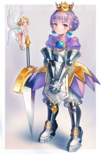 Rating: Safe Score: 8 Tags: armor fairy heels leotard pointy_ears princess_crown pyonsuke_(pyon2_mfg) sword wings User: Dreista
