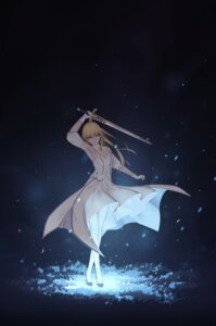 Rating: Safe Score: 49 Tags: dress fate/stay_night fate/unlimited_codes heels maredoro pantyhose saber saber_lily sword User: Mr_GT