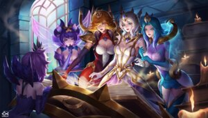 Rating: Safe Score: 53 Tags: armor character_design citemer cleavage dress league_of_legends luxanna_crownguard thighhighs wings User: charunetra