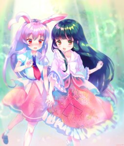 Rating: Safe Score: 30 Tags: amo animal_ears bunny_ears houraisan_kaguya reisen_udongein_inaba touhou User: Mr_GT