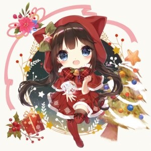 Rating: Safe Score: 25 Tags: chibi christmas danby_meron dress thighhighs User: Mr_GT