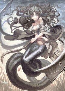 Rating: Safe Score: 30 Tags: mermaid monster_girl no_bra open_shirt yonuishi yukata User: Radioactive