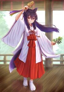 Rating: Safe Score: 8 Tags: animal_ears iroha_(iroha_matsurika) kitsune miko tail User: ryoga828