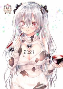 Rating: Questionable Score: 19 Tags: dress kamiya_maneki sweater User: BattlequeenYume