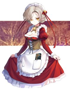 Rating: Safe Score: 25 Tags: azur_lane christmas cleavage kiyosato0928 maid sheffield_(azur_lane) skirt_lift User: Mr_GT