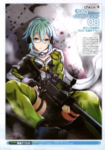 Rating: Safe Score: 25 Tags: cleavage gun gun_gale_online megane nabeshima_tetsuhiro sinon sword_art_online User: drop
