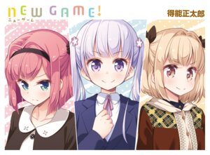 Rating: Safe Score: 27 Tags: business_suit iijima_yun mochizuki_momiji new_game! suzukaze_aoba tokunou_shoutarou User: kiyoe