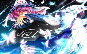 Rating: Safe Score: 12 Tags: nekominase saigyouji_yuyuko touhou wallpaper User: Konngara