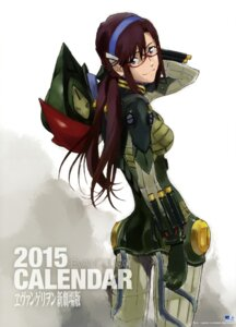 Rating: Safe Score: 25 Tags: bodysuit honda_takeshi makinami_mari_illustrious megane neon_genesis_evangelion User: drop