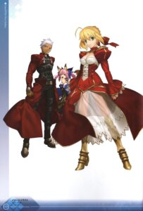 Rating: Safe Score: 18 Tags: animal_ears archer caster_(fate/extra) cleavage dress duplicate fate/extra fate/stay_night kitsune saber_extra see_through takeuchi_takashi type-moon User: Radioactive
