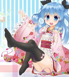 Rating: Questionable Score: 40 Tags: feet hyouta_(nekogamirin_c) japanese_clothes loli lolita_fashion noel_(sora_no_method) pantsu sora_no_method thighhighs wa_lolita User: Mr_GT