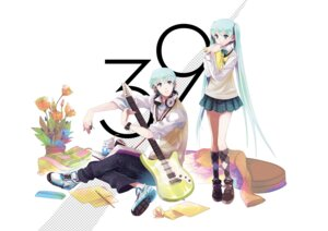 Rating: Safe Score: 15 Tags: chris genderswap guitar hatsune_miku hatsune_mikuo seifuku vocaloid User: animeprincess