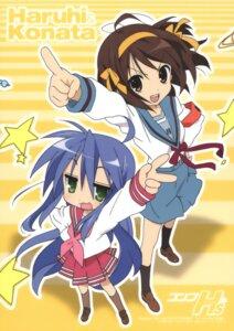 Rating: Safe Score: 19 Tags: horiguchi_yukiko izumi_konata lucky_star seifuku suzumiya_haruhi suzumiya_haruhi_no_yuuutsu User: MDGeist