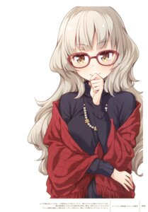 Rating: Safe Score: 50 Tags: hazuki_shizuku megane new_game! sweater tokunou_shoutarou User: Twinsenzw