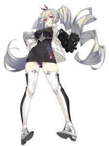 Rating: Questionable Score: 69 Tags: gun ikomochi pantsu thighhighs User: Dreista