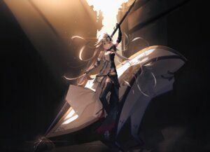 Rating: Safe Score: 16 Tags: armor fate/grand_order jeanne_d'arc jeanne_d'arc_(fate) ka11_ca thighhighs weapon User: Arsy