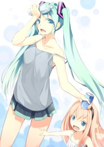 Rating: Safe Score: 15 Tags: hatsune_miku megurine_luka tenki_misuto vocaloid User: Radioactive