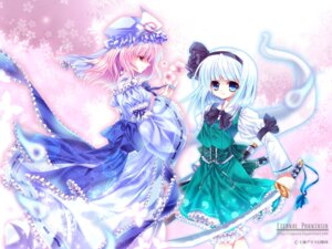 Rating: Safe Score: 8 Tags: capura.l konpaku_youmu lolita_fashion saigyouji_yuyuko sword touhou wallpaper User: bunnygirl