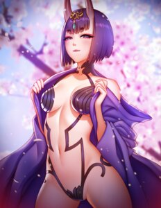 Rating: Questionable Score: 36 Tags: cleavage fate/grand_order horns japanese_clothes no_bra open_shirt pantsu pinkladymage shuten_douji_(fate/grand_order) undressing User: Mr_GT