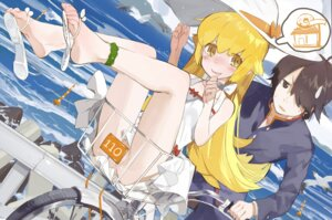 Rating: Questionable Score: 45 Tags: araragi_koyomi bakemonogatari dress nopan oshino_shinobu pandegg User: Mr_GT
