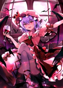 Rating: Safe Score: 24 Tags: kure~pu remilia_scarlet skirt_lift thighhighs touhou wings User: Mr_GT