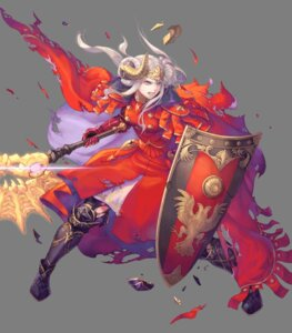 Rating: Questionable Score: 14 Tags: armor edelgard_von_hresvelg fire_emblem fire_emblem_heroes fire_emblem_three_houses haccan horns nintendo torn_clothes uniform weapon User: fly24