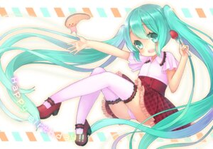Rating: Questionable Score: 27 Tags: cameltoe dress hatsune_miku pantsu thighhighs vocaloid xenon User: Mr_GT