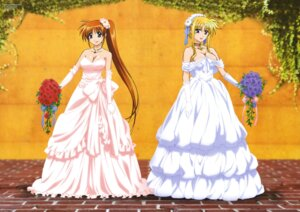 Rating: Safe Score: 34 Tags: cleavage dress fate_testarossa mahou_shoujo_lyrical_nanoha mahou_shoujo_lyrical_nanoha_strikers okuda_yasuhiro takamachi_nanoha wedding_dress User: SubaruSumeragi